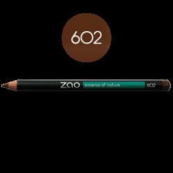 Crayon – yeux, lèvres, sourcils – 602 BRUN FONCÉ – 1,14g – bio, vegan – ZAO