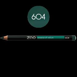Crayon – yeux, lèvres, sourcils – 604 VERT SOMBRE – 1,14g – naturel, vegan – ZAO