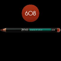 Crayon – yeux, lèvres, sourcils – 608 BRUN ORANGÉ – 1,14g – naturel, vegan – ZAO