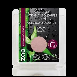 Recharge – Fard à paupières nacré – 102 BEIGE ROSE – 3g – bio vegan – ZAO