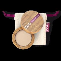 Fard à paupières mat – 202 BRUN BEIGE – boîtier bambou rechargeable – 3g – bio, vegan – ZAO